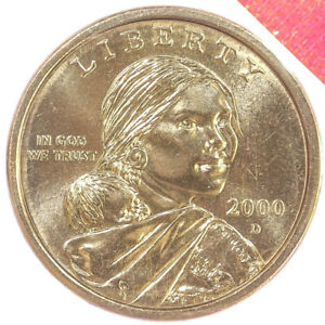 2000 D NATIVE AMERICAN SACAGAWEA BU DOLLAR MINT CELLO US COIN