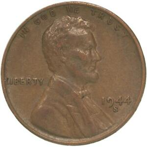 1944 S LINCOLN WHEAT CENT EXTRA FINE PENNY XF