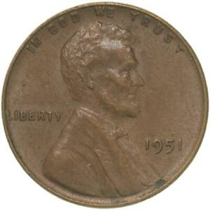 1951 LINCOLN WHEAT CENT EXTRA FINE PENNY XF