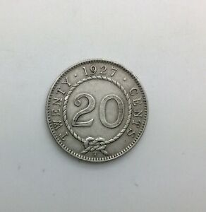 Click now to see the BUY IT NOW Price! SARAWAK 1927 H 20  CENT  DATE SILVER MINIMAL MARKS EXCELLENT DETAILS
