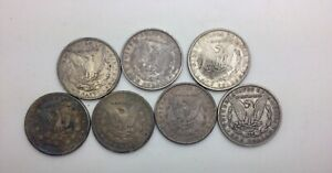 Click now to see the BUY IT NOW Price! 1884 86 1890 1898 1899O 1901 O MORGAN DOLLARS 7  MIX GRADE PIECES SEE PIX