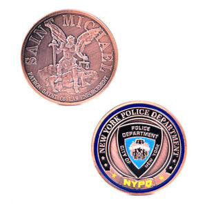 AMERICA POLICE NEW YORK COMMEMORATIVE COIN  COLLECTION CHALLENGE ART CRA U8_A