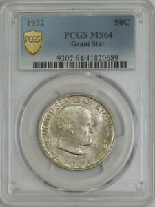1922 GRANT HALF 50C WITH STAR MS64 PCGS SECURE 943874 4