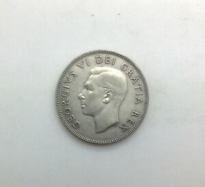 Click now to see the BUY IT NOW Price! 1948 CANADA KEY DATE GEORGE VI 50 CENTS  COLLECTOR COIN SHARP MID GRADE COIN