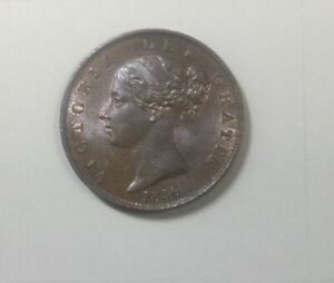 Click now to see the BUY IT NOW Price! 1856 GREAT BRITAIN  COPPER HALF PENNY VICTORIA FULL CARTWHEEL  LUSTRE RED BROWN