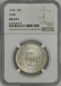 Click now to see the BUY IT NOW Price! 1936 YORK 50C MS67  NGC 943730 21