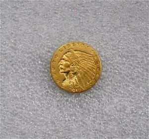 1912 USA $2 1.2 DOLLARS GOLD COIN 1/4 EAGLE INDIAN  XF