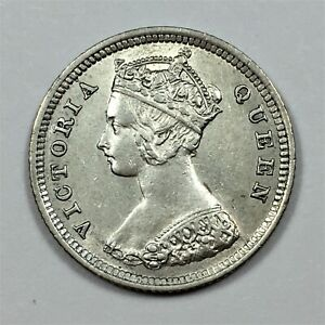 Click now to see the BUY IT NOW Price! 1888 HONG KONG 10 CENTS COIN SILVER KM 6.3 AU