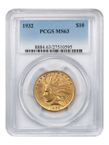 1932 $10 PCGS MS63   INDIAN EAGLE   GOLD COIN