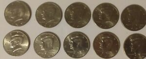 KENNEDY HALF DOLLAR LOT  D MINT   10  1980'S & 90'S