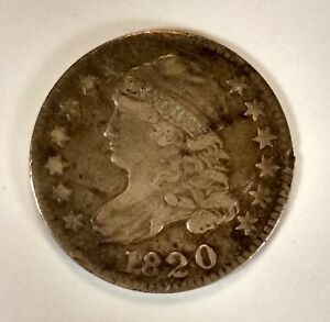 1820 10C DIME CAPPED BUST SILVER 90  COLLECTIBLE COIN NUMISMATIC