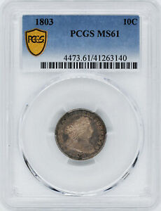 Click now to see the BUY IT NOW Price! 1803 DRAPED BUST 10C PCGS MS 61