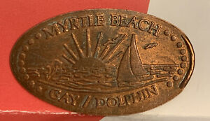 GAY DOLPHIN GIFT COVE SAILBOAT PRESSED ELONGATED PENNY