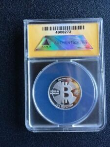 Click now to see the BUY IT NOW Price! 2013 CASASCIUS 0.1 BTC LOADED SILVER COLLECTABLE COIN ANACS MS69