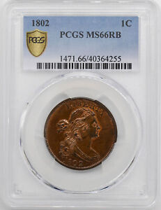 Click now to see the BUY IT NOW Price! 1802 DRAPED BUST 1C PCGS MS 66 RB