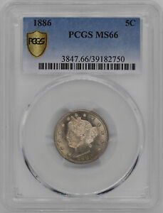 Click now to see the BUY IT NOW Price! 1886 LIBERTY 5C PCGS MS 66