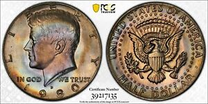 Click now to see the BUY IT NOW Price! MS64 1980 D 50C KENNEDY HALF DOLLAR PCGS SECURE  RAINBOW TONED CLAD