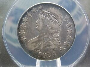 1824 CAPPED BUST HALF DOLLAR 50C