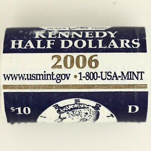 2006 D KENNEDY HALF DOLLAR BU MINT WRAPPED H/T ROLL 20 US COIN LOT