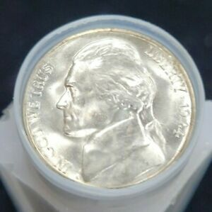 Click now to see the BUY IT NOW Price! 1944 S JEFFERSON SILVER WARTIME NICKEL BU ROLL 40 COINS TOTAL MS UNC