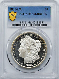 Click now to see the BUY IT NOW Price! 1885 CC MORGAN S$1 PCGS MS 66 DMPL