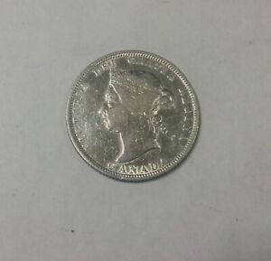 Click now to see the BUY IT NOW Price! CANADA 1883H SILVER 25 CENTS VICTORIA  DECENT LOWER GRADE OLD LIGHT CLEANING