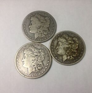 Click now to see the BUY IT NOW Price! 1890 1891 1896 O MORGAN DOLLAR GROUP OF 3 MIXED GRADE COINS NEW ORLEANS