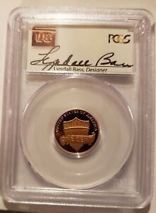2010 S LINCOLN SHIELD PCGS PR69DCAM SIGNED LYNDALL BASS