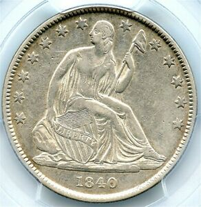 1840 O LIBERTY SEATED SILVER HALF DOLLAR PCGS XF 40 AFFORDABLE ORLEANS COIN