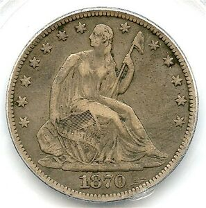1870 CC LIBERTY SEATED SILVER HALF DOLLAR PCGS XF 30 AFFORDABLE GREAT CC COIN