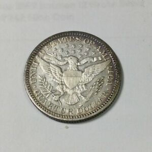 Click now to see the BUY IT NOW Price! 1904 BARBER QUARTER DECENT MID GRADE COIN GREAT FOR TYPE  OLD LIGHT CLEANING