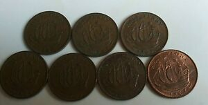 GB HALF PENNEY 196062 67 COINS 7PS