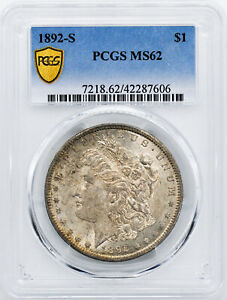 Click now to see the BUY IT NOW Price! 1892 S MORGAN S$1 PCGS MS 62