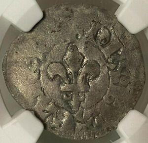 Click now to see the BUY IT NOW Price! ANGLO GALLIC BERGERAC HENRY EARL OF LANCASTER GROS A LA FLEUR DE LIS   NGC VF