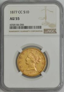 Click now to see the BUY IT NOW Price! 1877 CC $10 GOLD LIBERTY AU55 NGC 944258 1