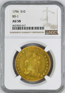 Click now to see the BUY IT NOW Price! 1796 DRAPED BUST $10 NGC AU 58