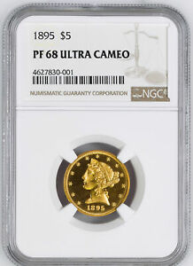 Click now to see the BUY IT NOW Price! 1895 LIBERTY $5 NGC PR 68 DCAM