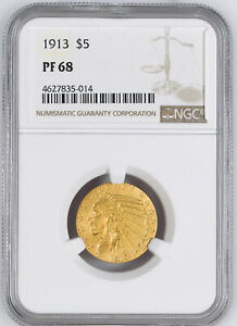 Click now to see the BUY IT NOW Price! 1913 INDIAN HEAD $5 NGC PR 68