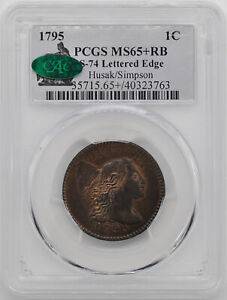 Click now to see the BUY IT NOW Price! 1795 FLOWING HAIR LARGE 1C PCGS MS 65  RB