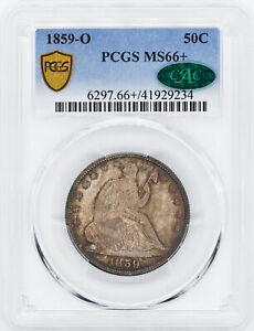 Click now to see the BUY IT NOW Price! 1859 O LIBERTY SEATED 50C PCGS MS 66