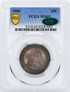 Click now to see the BUY IT NOW Price! 1806 DRAPED BUST 25C PCGS MS 65
