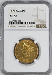 Click now to see the BUY IT NOW Price! 1873 CC LIBERTY HEAD $10 NGC MS 53