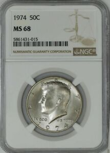 Click now to see the BUY IT NOW Price! 1974 KENNEDY HALF 50C MS68 NGC 943104 69