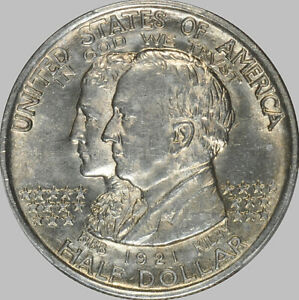 1921 ALABAMA 50 SILVER EARLY COMMEMORATIVE PCGS MS 63