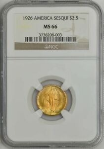 Click now to see the BUY IT NOW Price! 1926 $2 1/2 GOLD SESQUICENTENNIAL $2.5 MS66 NGC 944382 2
