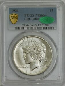 Click now to see the BUY IT NOW Price! 1921 SILVER PEACE DOLLAR $ HIGH RELIEF MS66 PCGS SECURE CAC 943736 3