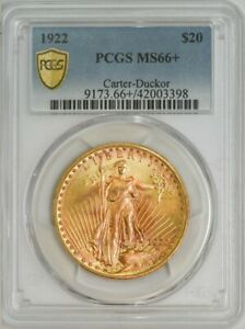 Click now to see the BUY IT NOW Price! 1922 $20 GOLD ST. GAUDENS MS66  PCGS SECURE 943192 6   SINGLE FINEST