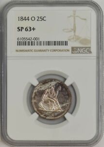 Click now to see the BUY IT NOW Price! 1844 O SEATED LIBERTY QUARTER 25C SP63  NGC 941320 1   UNIQUE SPECIMEN