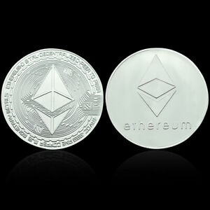 ETHEREUM COMMEMORATIVE COIN SILVER PLATED METAL COINS SOUVENIR FOR COLLECTION