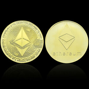 ETHEREUM COMMEMORATIVE COIN GOLD PLATED METAL COINS SOUVENIR FOR COLLECTION